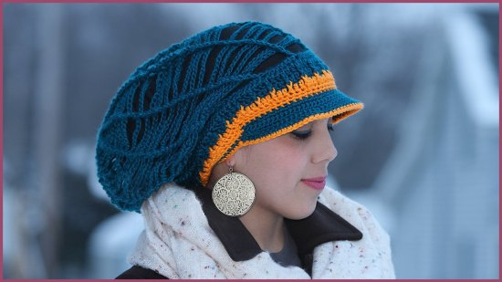 Slouchy Hat with Brim