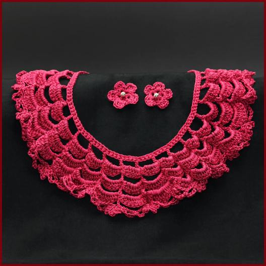 Lace Collar With Earrings