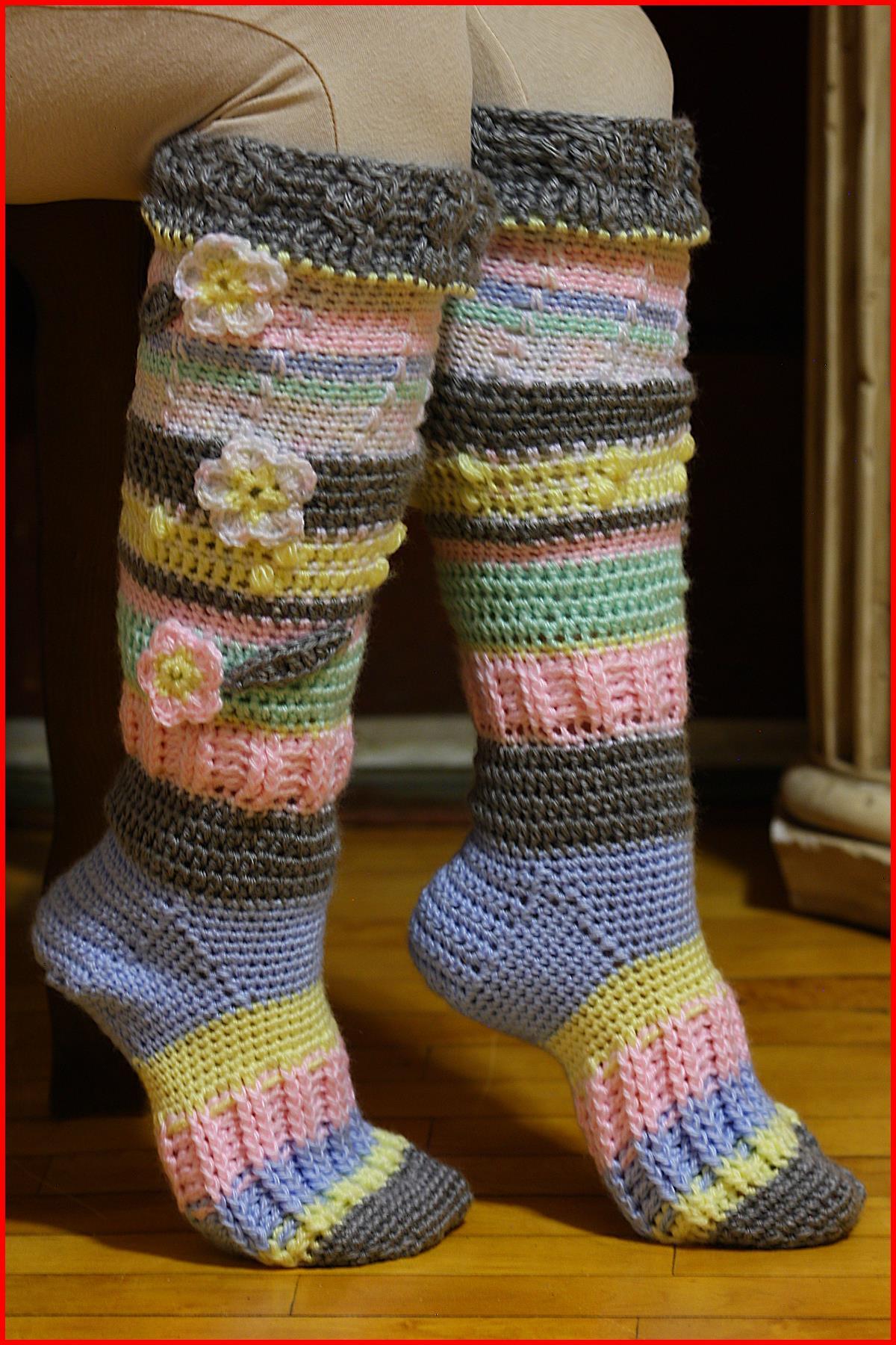 67a4d54eb Crochet Tutorial  Knee-High Socks - YARNutopia by Nadia Fuad ...