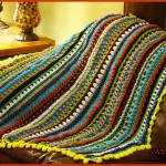 Free Crochet Pattern: Color Pop Baby Blanket