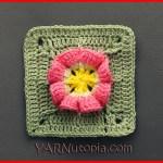 Crochet Tutorial: Wrinkled Rose Granny Square