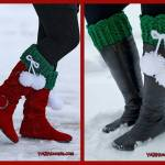 Crochet Tutorial: Festive Pom Boot Cuffs