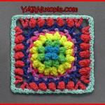 Crochet Tutorial: Firework Pop Granny Square