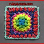 Crochet Tutorial: Firework Pop Granny Square