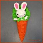 Crochet Tutorial: Bunny Amigurumi in a Carrot Cocoon
