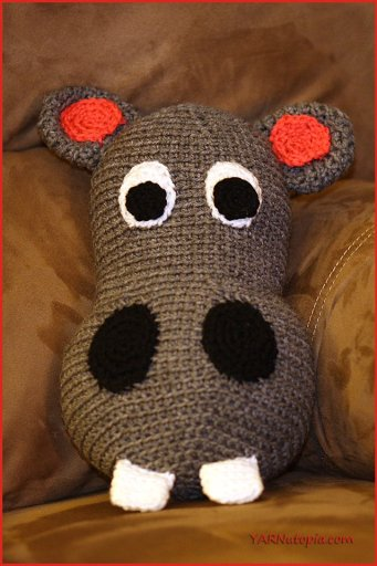 Amigurumi Crochet Hippo Toy Softies Free Patterns | 512x341
