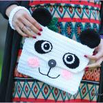 Crochet Tutorial: The Panda Clutch Purse