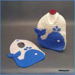 Crochet Tutorial: The Blue Whale Baby Bib