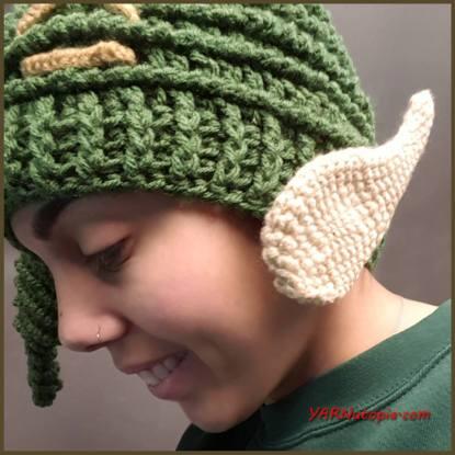 Santa's Helper Free Crochet Elf Hat Pattern (With Ears!) | 415x415