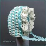 Crochet Tutorial: Vintage Style Baby Bonnet