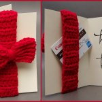 How to Crochet Tutorial: Bow Greeting Card with Gift Card Holder