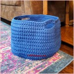 FREE Written Crochet Pattern: Large Basket using Chunky Yarn