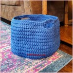 FREE Crochet Video Tutorial: Large Basket using Chunky Yarn