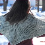 FREE Written Crochet Pattern: Simple Spring Shawl
