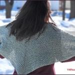 FREE Written Crochet Pattern: Simple Spring Shawl