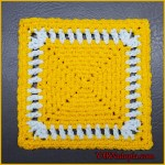 FREE Written Crochet Pattern: Simply Bright Granny Square