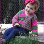 FREE Written Crochet Pattern: Offbeat Baby Cardigan