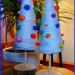 12 Days of Christmas: Yarn Art Jingle Trees