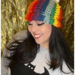 FREE Written Crochet Pattern: Rainbow Pom Hat