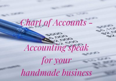 Chart of Accounts-Accounting Speak Your Handmade Business