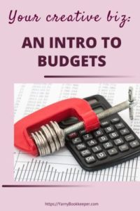And intro to budgets. Evaluate where your money went last year and where it needs to go this year