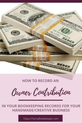 Learn how to record an Owner Contribution in your bookkeeping records