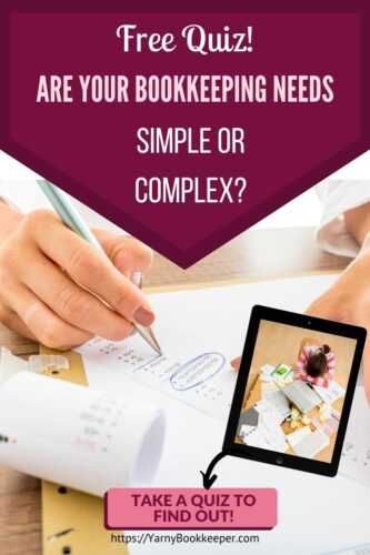 Take a quiz to find out if the bookkeeping needs for your handmade business are simple or complex.