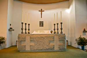 St.Cuthbert, Yarrawonga, Massive granite Altar