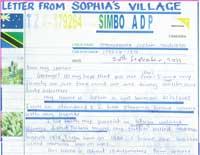 Sophia's Letter