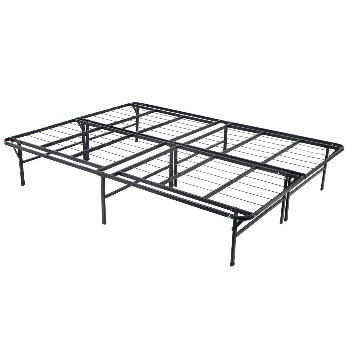 Queen Size Folding Bed Frame Platform Mattress Foundation