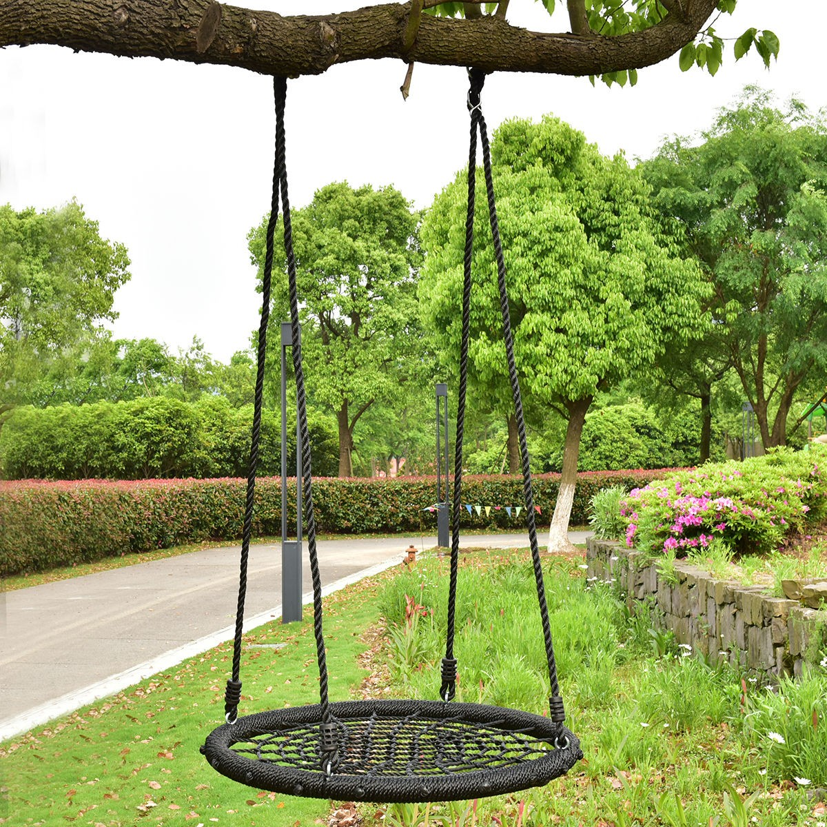 31 5 Kids Outdoor Tree Swing Round Net Tool Garden