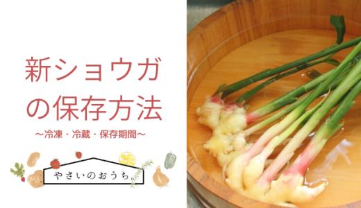 新ショウガの保存方法 冷凍・冷蔵・期間と保存食レシピ!