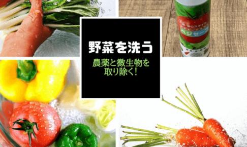 【野菜の洗い方】残留農薬や細菌を取り除く方法。身近なアレを使う?