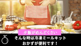 夕飯がめんどくさい時は冷凍ミールキット ・おかずがおすすめ!