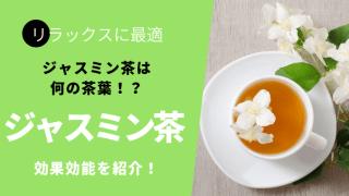人気のジャスミン茶の栄養や効果効能とは?緑茶と同じ茶葉!?