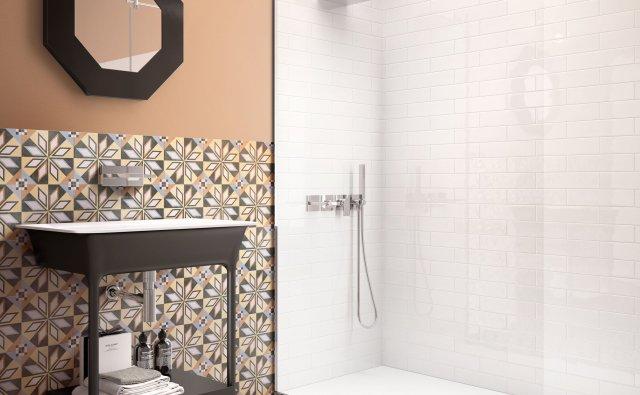 desenli banyo fayans karo modelleri