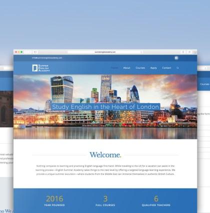 Summer English Academy Logo & Website