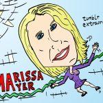 marissa mayer caricature