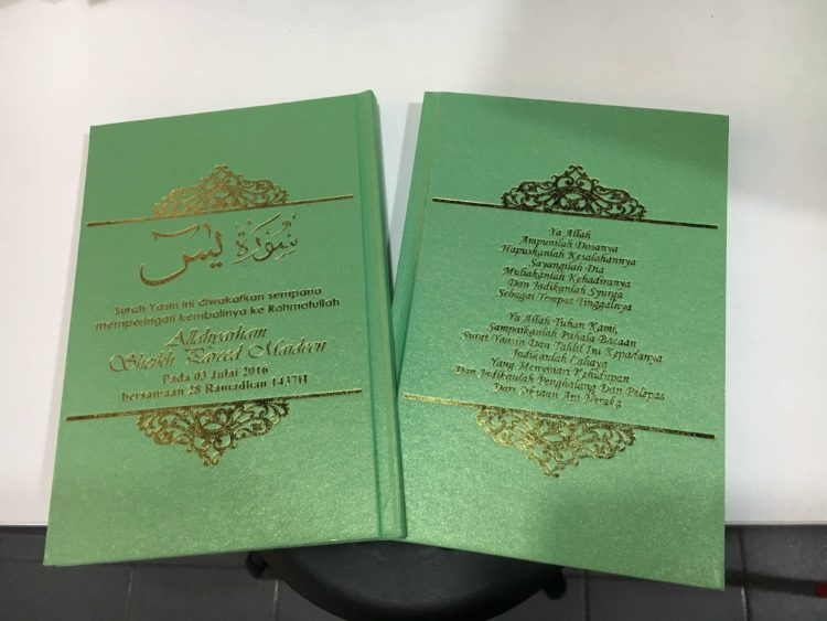 cetak buku tahlilan