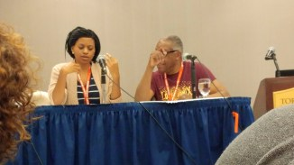 At the panel