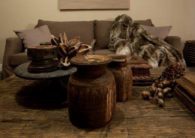 Woonkamer meubilair in showroom