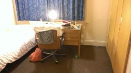 Sparsamt möblerat