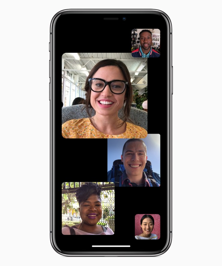 Group Facetime with up to 32 participants on iOS12