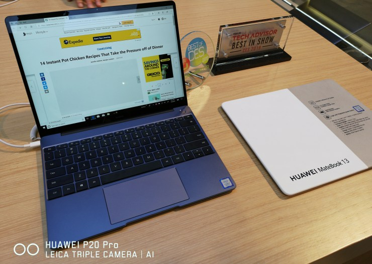 Huawei MateBook 13 at CES 2019