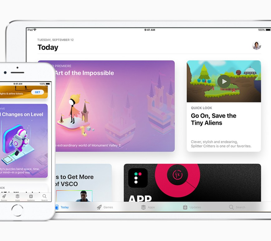 iOS 11 App Store on iPad and iPhone