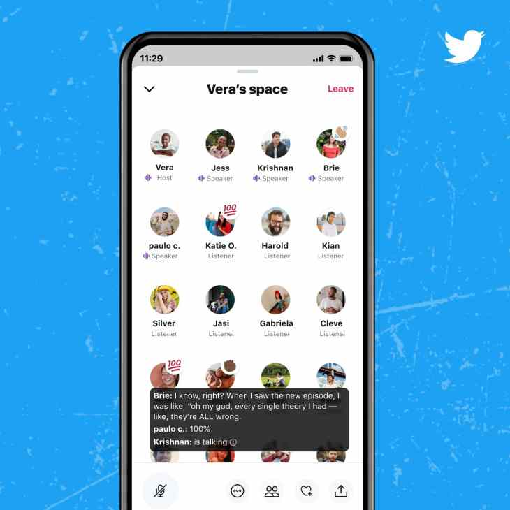 Live Captions on Twitter Spaces