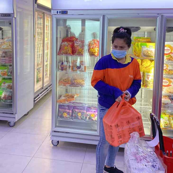 Inside talabat Mart in Qatar