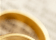 Image of some wedding bands at a wedding at Yass Valley Anglican Church