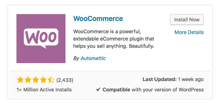 woocommerce insrallation 1