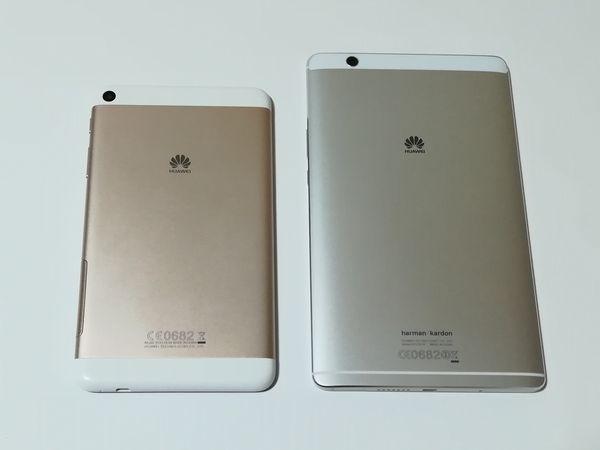 MediaPad M3とMediaPad T1 7.0 LTEを比較